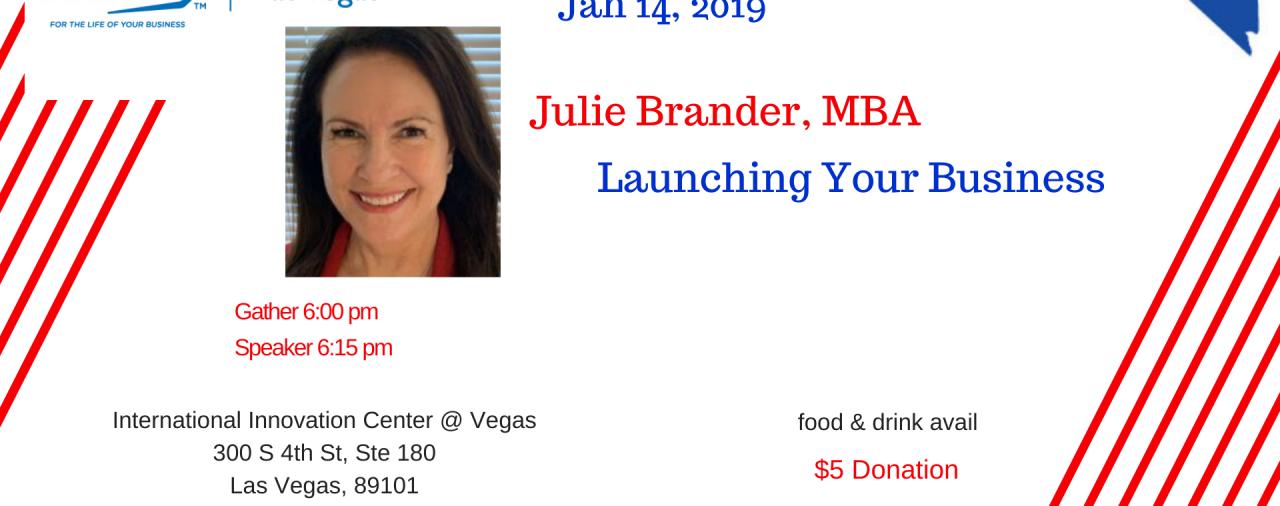 Sip-n-Learn Vegas Jan 14 Julie Brander