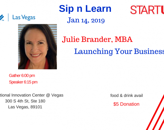 Sip-n-Learn Vegas Jan 14 Julie Brander